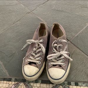 Converse All Star low top gray canvas sneakers SZ7